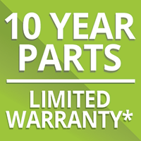 10yr Parts Limited Warranty