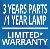 3yr Parts-1yr Lamp Limited Warranty